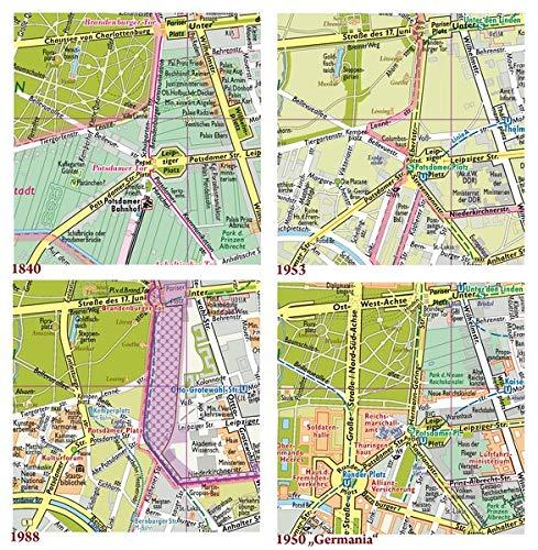 Berlin, Vier Stadtpläne im Vergleich, Ergänzungspläne 1840, 1953, 1988, 1950