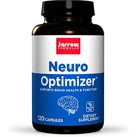 Jarrow Formulas Neuro Optimizer - 120 Capsules - Brain Health & Antioxidant Support - Includes 7 Neuro Nutrients - Gluten Free - 30 Servings