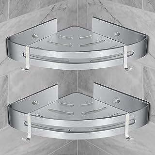 Etagère de Douche d'Angle, RenFox Etagère de Salle de Bain Sans Forage Panier Rangement Douche Aluminium Murale Adhésive S...