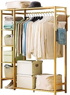 Armoire de Rangement Bambou cintre portable surdimensionné boîte de stockage de rack de vêtements for l'entrée et la conce...
