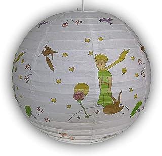 Lámpara de papel para habitación infantil, pantalla de la pequeña príncipe