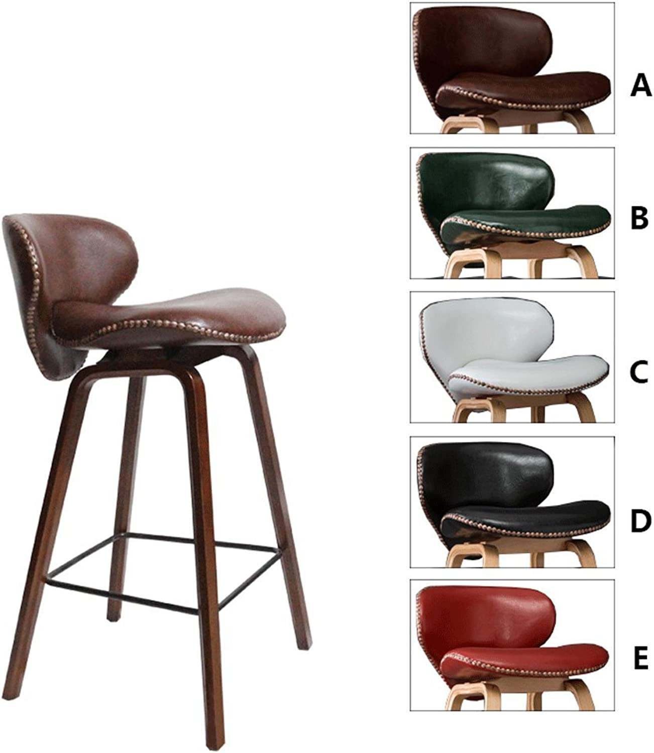 TXXM Barstools Solid Wood bar stools, Furniture Decorative stools, Leisure Chairs, (color   A  Brown, Size   H69CM)
