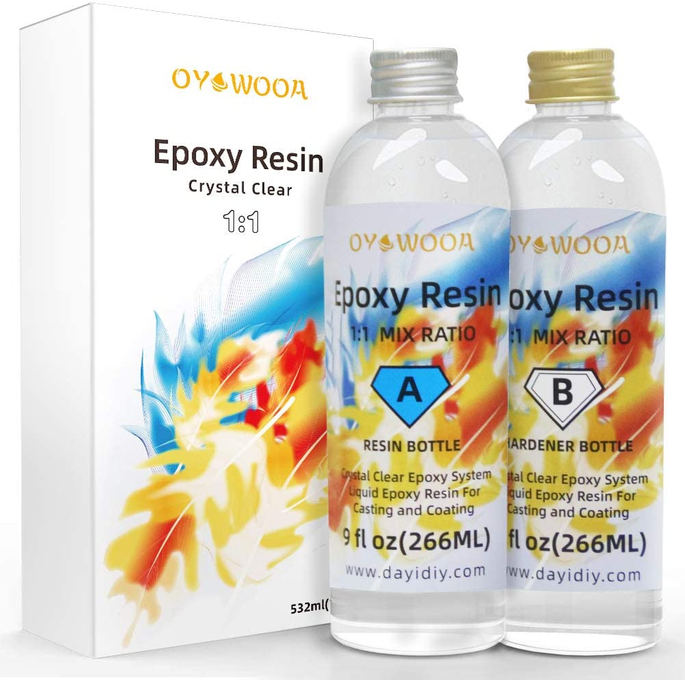 Epoxy Resin Crystal Clear Discount mail order 18oz Mix Easy Art 2 Max 73% OFF Part