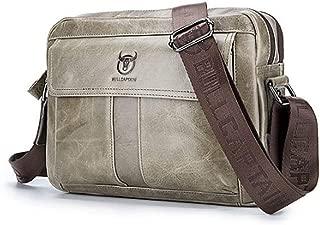 Shoulder Messenger Bag Men's Shoulder Bags First Layer Leather Shoulder Crossbody Bag Sports Casual Leather Crossbody Men's Bag Cross Body Casual Crossbody Bag (Color : Bronze, Size : L)