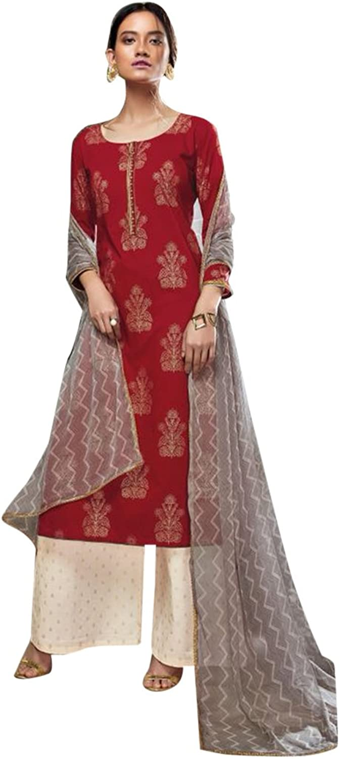 Bollywood Wedding Collection of palazzo Salwar kameez Suit Dupatta Party Muslim 2504