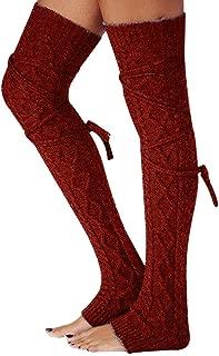 Socks, WOCACHI Girls Ladies Women Thigh High OVER the KNEE Socks Long Cotton Stockings Warm