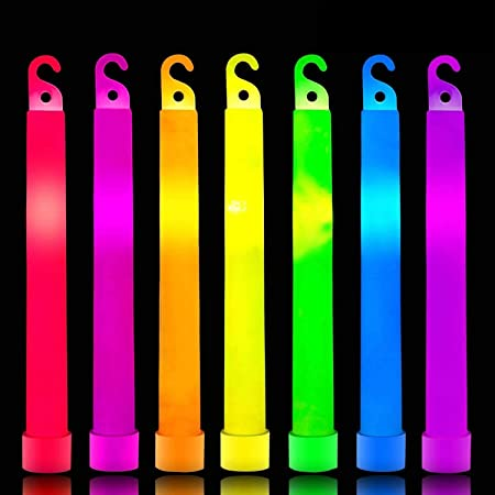 """New 100 White Premium Large 6/"""" Long Thick Glow Sticks Neon Party Light Festival"""