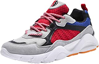 YOcheerful Men's Mesh Shoes Breathable Outdoor Sneakers Lightweight Shoes Wild Casual Shoes