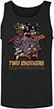 RIVEBELLA New Graphic Tee Rick Morty Shirt Two Brothers Graphic Men's Tank Top