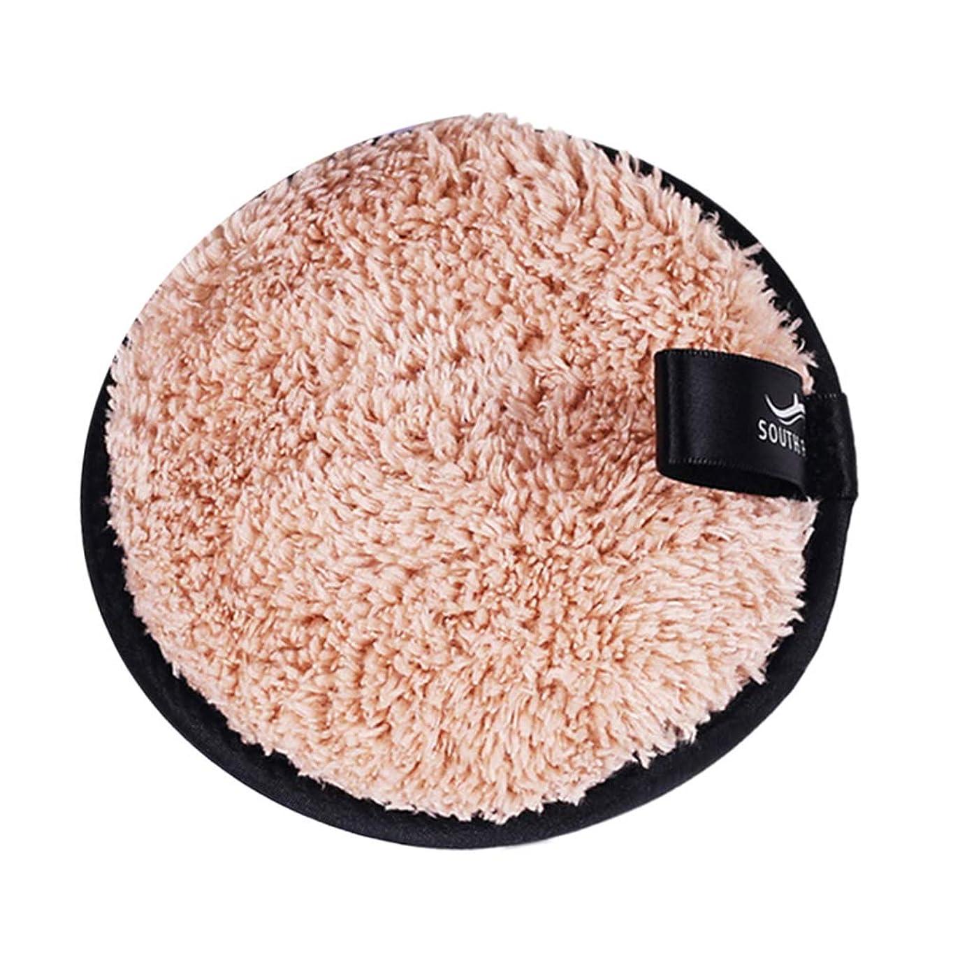 分離波紋おとうさんFLAMEER メイクリムーバーパッド 化粧品 フェイシャル クレンジング パフ スポンジ 3色選べ - 褐色