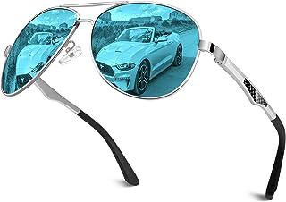 GA61 Prima de aleación Al-Mg Pilot gafas de sol polarizadas UV400, bisagras de resorte duplicadas completas gafas de sol para Hombres Mujeres