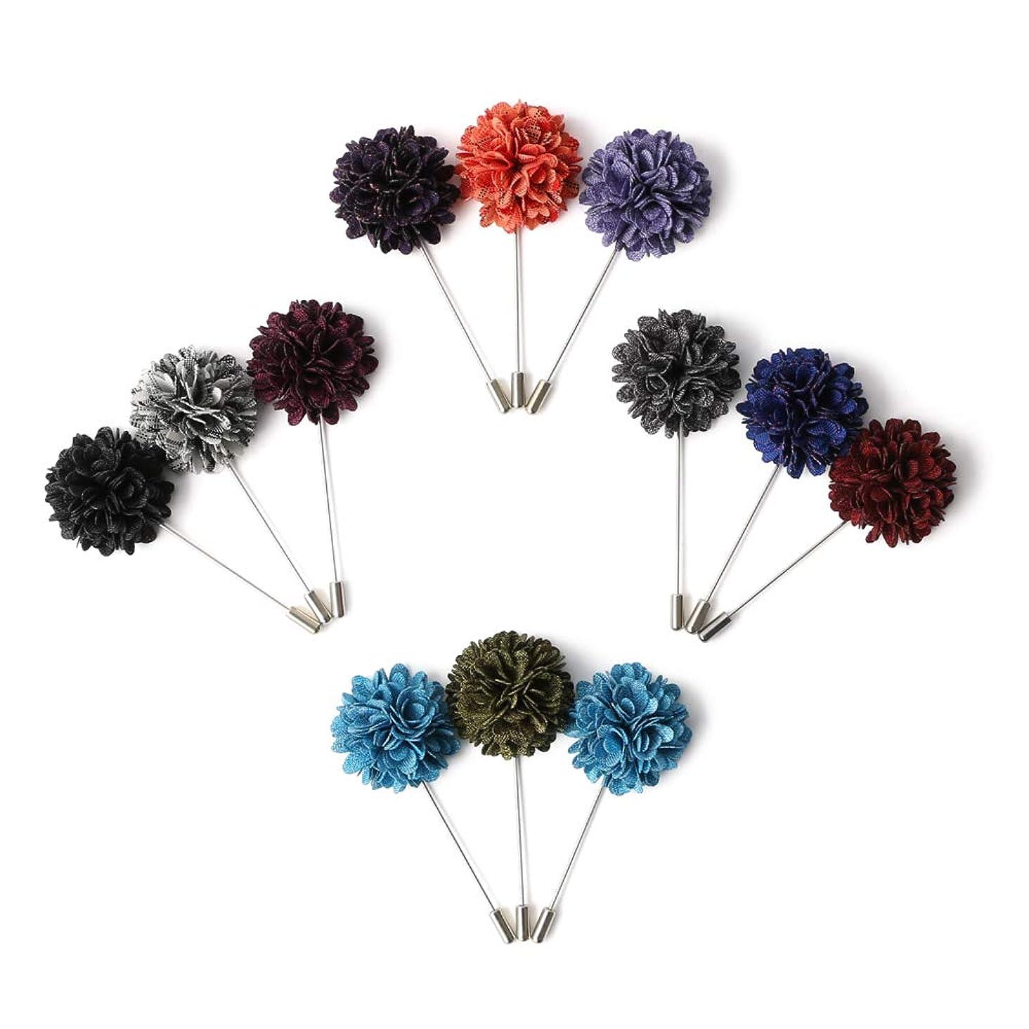Landisun Men's Lapel Pin Flower Boutonniere Set Handmade For Suits
