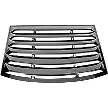 IKON MOTORSPORTS Window Louver Compatible With 2010-2015 Chevy Camaro Rear Window Scoop Louver Sun Shade Cover Rain Guard Gloss Black