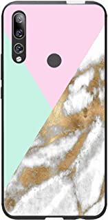 Okteq Case Cover for Huawei Y9 Prime 2019 Shock Absorbing PC TPU Full Body Drop Protection Cover matte printed - pink gree...