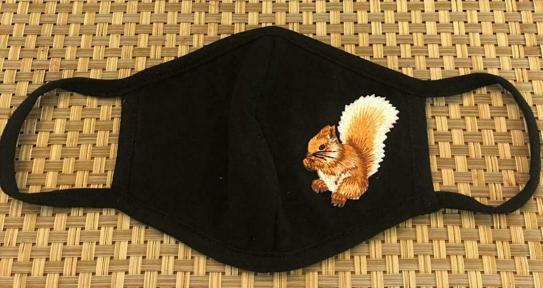 Squirrel Animal Critter mart Woods Protection Design C Face Detroit Mall Mask