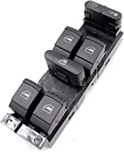Power Window Master Switch Replace for Volkswagen VW Bora Passat Sagitar Golf Jetta MK4 B5 4 Door 2000-04 OE:18G959857A Front Left Driver Side Power Lifter Control Switch Comes with a Removal Tool