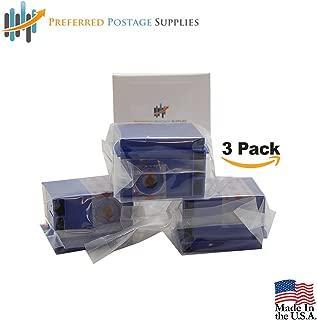 Three Pack Preferred Postage Supplies Compatible 765-9 Red Ink Cartridge for DM300c, DM400c, DM450c, DM475c Postage Meter