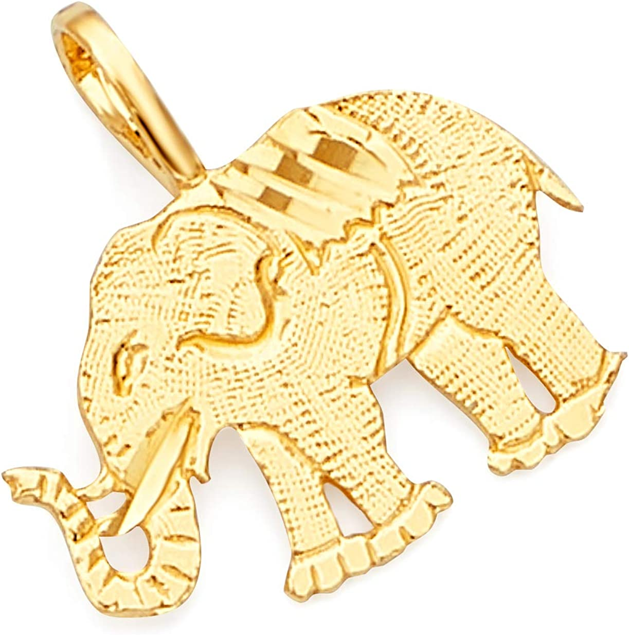 GoldenMine Fine Jewelry Collection 14k Yellow Gold Elephant Pendant