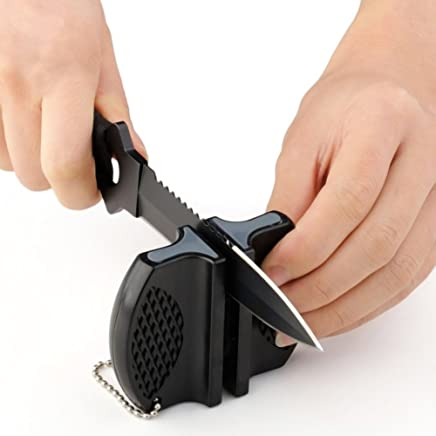 Naisedier Camp Ceramic Pocket Kitchen Knife Sharpener Rod Tungsten Steel Tool