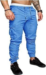 Landove Pantalone Tuta Uomo con Coulisse Pantaloni Cavallo Basso Ragazzo