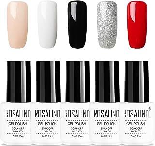 ROSALIND Pure Series Color Gel Esmalte de uñas Decoración artística Soak Off UV LED 5pcs 7ml (0102030710)