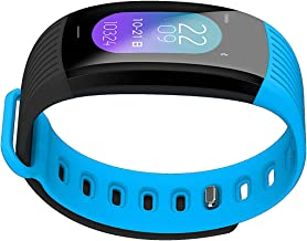 AOE Fitness Tracker Environmental Activity Tracker with HR, BP, Calories, Pedometer, Sleep Monitor, Remind Call/SMS, IP67 Waterproof Smart Bracelet Multiple Motion Modes Sport Watch for Android & iOS