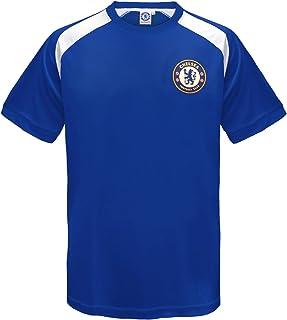Camiseta oficial de entrenamiento - Para niño - Poliéster - Azul y blanco