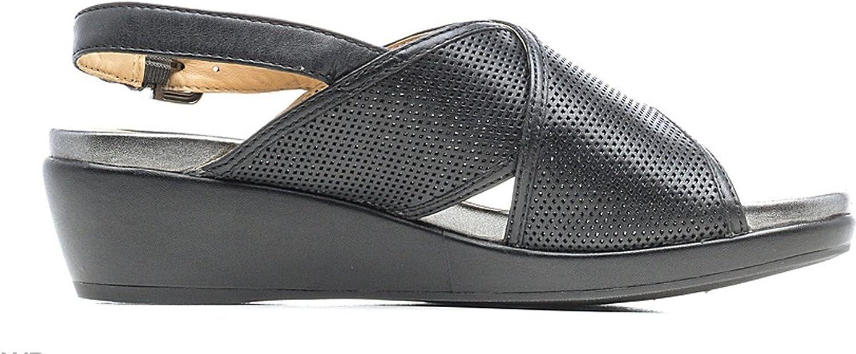 Geox Damenschuhe Sandalen schwarzem Leder D72P6H-0LC09-C9999 D72P6H-0LC09-C9999  gemütlich