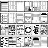 24 Pieces Journal Stencil Set Plastic Planner...