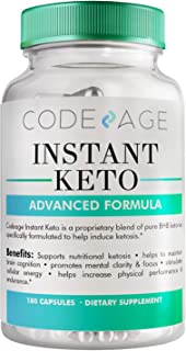Code Age Instant Keto - Keto Advanced Weight Loss - Burn Fat Instead Of Carbs - Ketosis Supplement - 90 Day Supply