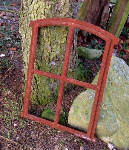 Antikas - Ventana pequeña 47,5 x 63 cm - Ventana de de Hierro Fundido - Marcos de Ventanas - Ventana de establo - Ventana como Antigua - decoración jardín