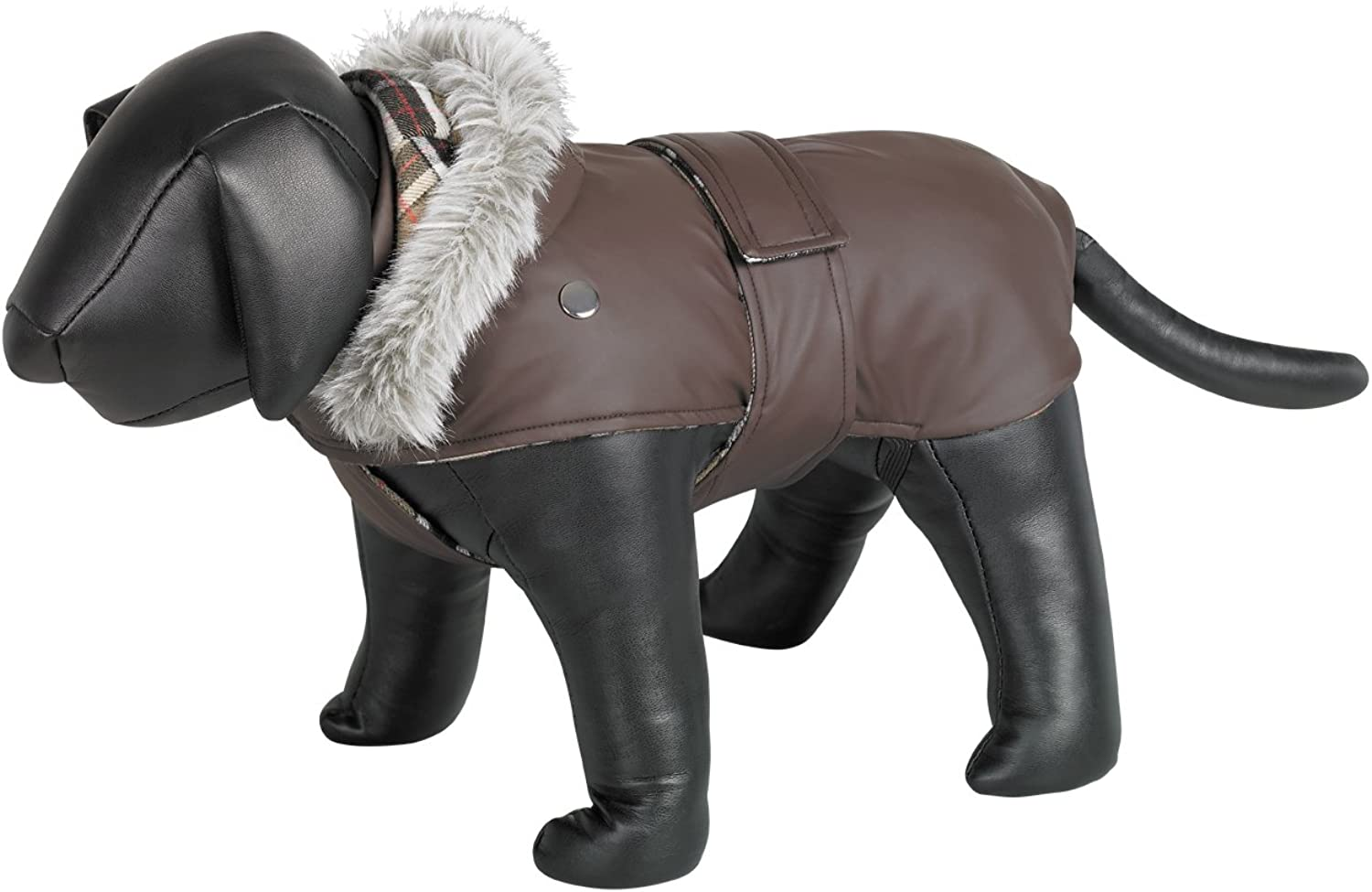 Nobby Marian Waterproof Hooded Dog Coat (16in) (Brown)