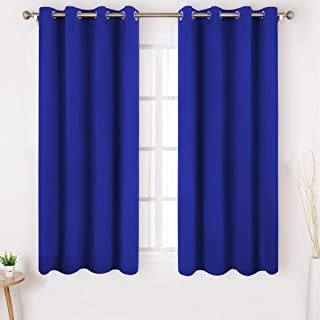 HOMEIDEAS Blackout Curtains Wide 52 X 63 Inches Length Set of 2 Panels Royal Blue Room Darkening Curtains/Drapes, Thermal Insulated Grommet Window Curtains for Bedroom & Living Room