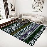 Alfombra Puzzle Alfombra Verde, té A Pocos cálidos Color Color Easy Vacuum Carpet alfombras baños -Verde_180x200cm