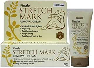 New Finale Stretch Mark Removal Cream 50g. Reduces stretch mark ridges and discoloration
