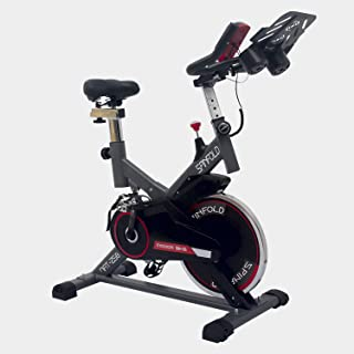 Nyana Fit | Bicicleta Spinning Spinfit Pro Indoor | Silenciosa | Frecuencia Cardiaca | Volante Inercia 8Kg | Pantalla LCD ...