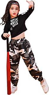 LOLANTA Costume Moderno di Danza Jazz per Ragazze Street Camouflage Dancewear Vestito da Ballo Hip-Hop