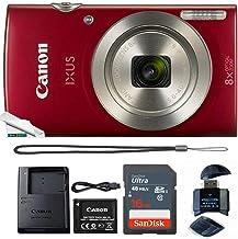 Powershot Ixus 185 / ELPH 180 20MP Compact Digital Camera Red with 16GB Memory Card