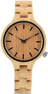 LYMUP Reloj de Madera Regalos para Mujer Vestido Reloj Natural Arce Madera Hembra Reloj analógico Cuarzo Relojes Deportivo...