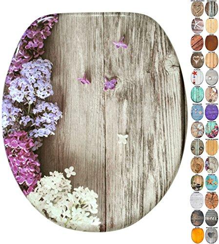 Asiento para inodoro de cierre suave, gran selección de atractivos asientos de inodoro de madera con calidad superior y duradera (Sambuco)