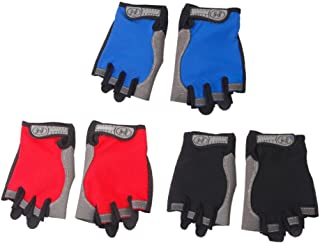 Domybest Cycling Gloves Unisex Thin Breathable Fitness Climbing Half Finger Gloves