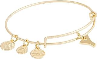 Alex and Ani Initial Y III Bangle Bracelet Shiny Gold One Size (A20EBINT25SG)