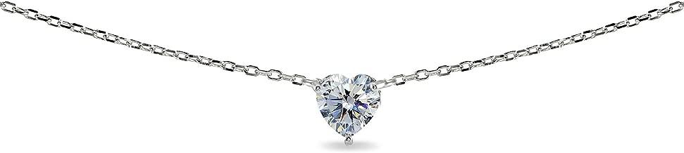 Best heart solitaire necklace Reviews