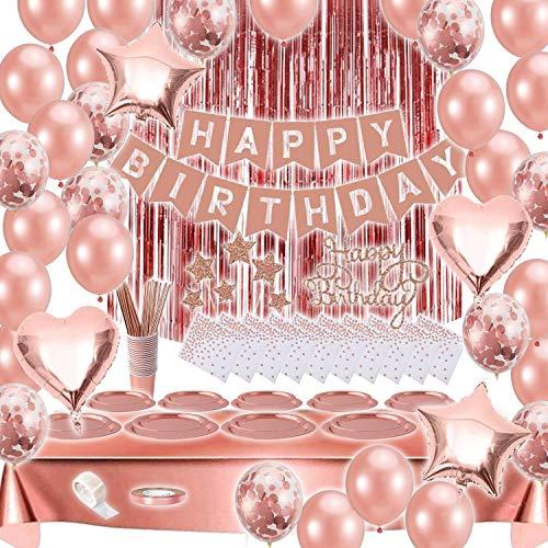 Bea's Party Decorazioni compleanno donna oro rosa et or addobbi bambina adulti palloncini rosa gold set feste compleanno 40 50 30 20 anni