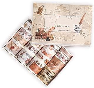 Miystn Masking Tape, Washi Tape, Ruban Adhésif Décoratif pour Arts et Travaux Manuels de Bricolage, Scrapbooking Bullet Jo...