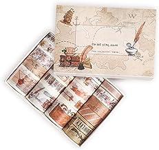 Miystn Washi Tape Set, Plakboek Tape, Brede Washi Tape, voor DIY, Bullet Journal, Craft, Cadeaupapier, Scrapbooking (1 Se...