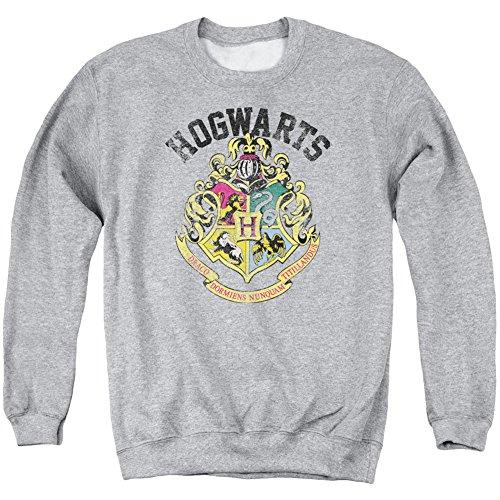 Crewneck Sweatshirt: Harry Potter- Hogwarts Distressed Crest Size M