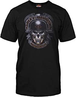 Harley-Davidson Military - Men's Black Skull Graphic T-Shirt - Baghdad | Ghoulish