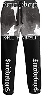 Xianshime Dark Joker Mens Sweatpants Trousers Fashion Print with Pocket