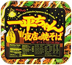 Pack of twelve Japan's favorite instant yakisoba noodles Contains dried vegetables, a spicy soy sauce and mustard mayonnaise